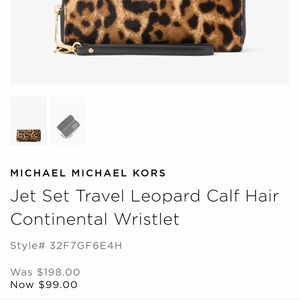d88bd7cc0bc9 Michael Kors Bags - Michael Kors leopard wristlet wallet calf hair
